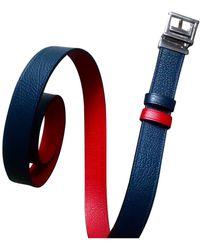 Lancel Leather Belt - Red