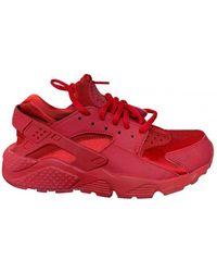 Nike Air Huarache Running Shoes - Red