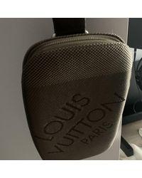 Louis Vuitton Grey Cloth Bag - Gray