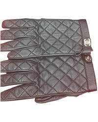 Chanel Leder Handschuhe - Schwarz