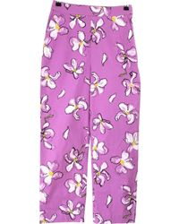 Isa Arfen Pantalones en algodón violeta - Morado