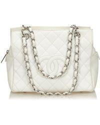 Chanel - Borse a mano Timeless/Classique Bianco - Lyst