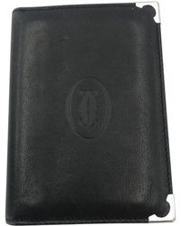Cartier - Black Leather Small Bag, Wallets & Cases - Lyst