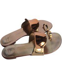 Giuseppe Zanotti Leather Sandal - Metallic