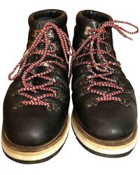Moncler Leather Boots - Brown