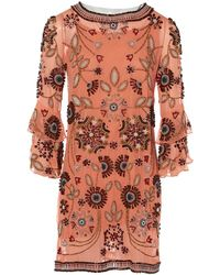 560e21cdfb Lyst - Matthew Williamson Tieback Halter Coverup Maxi Dress in Pink