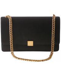 Celine Case Flap Leather Handbag - Black