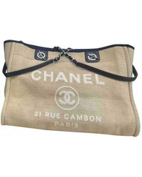 Chanel Deauville Cloth Tote - Natural