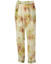 Isabel Marant - Silk Large Trousers - Lyst