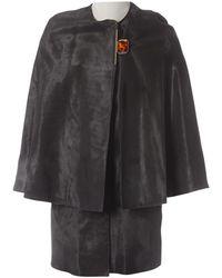 Lanvin Leather Cape - Multicolor