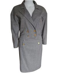 Chanel Wolle Kostüm - Grau