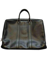 Louis Vuitton Porte Documents Voyage Black Leather Bag