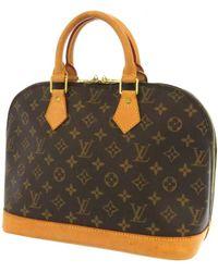 Louis Vuitton Alma Leinen handtaschen - Braun