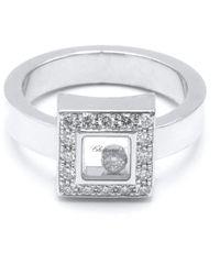 Chopard Bagues Happy Diamonds en Or blanc Argenté - Métallisé