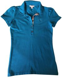 Burberry Turquoise Cotton Top - Blue