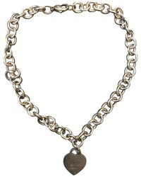 Tiffany & Co. Return To Tiffany Silver Necklace - Green