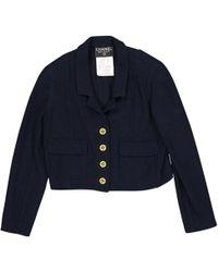 Chanel - Vintage Navy Wool Jacket - Lyst