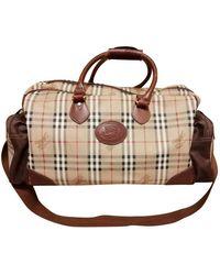 Burberry Cloth Travel Bag - Natural