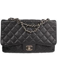 4be04fe9721a Vestiaire Collective · Chanel - Pre-owned Timeless/classique Black Leather  Handbags - Lyst