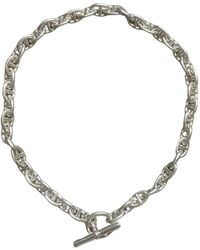 Hermès Collar Chaîne d'Ancre de Plata - Metálico