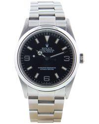 Rolex - Explorer 39mm Black Steel Watches - Lyst