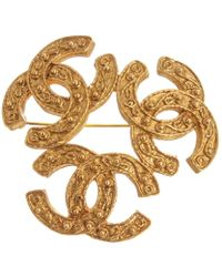 Chanel - Gold Metal Pins & Brooches - Lyst