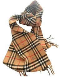 Burberry Wool Scarf - Natural