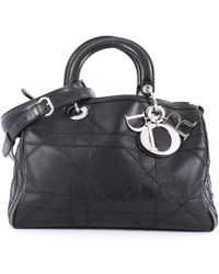 Dior - Pre-owned Granville Black Leather Handbags - Lyst