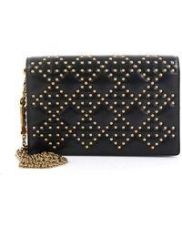 Dior Lady Black Leather Clutch Bag