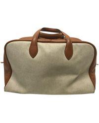Hermès Victoria Cloth Handbag - Multicolor