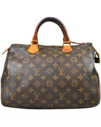 Louis Vuitton - Pre-owned Speedy Cloth Handbag - Lyst