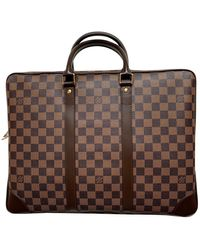 Louis Vuitton Porte Documents Voyage Leinen Business tasche - Mehrfarbig