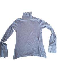 Dior Top en Coton Marine - Bleu