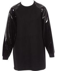 Wanda Nylon - Black Wool Dress - Lyst