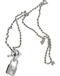 Hermès Silver Silver Necklace - Metallic