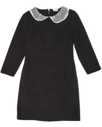 L'Agence - Black Polyester Dress - Lyst