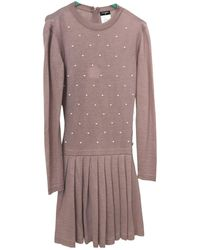 Chanel Cashmere Mid-length Dress - Pink