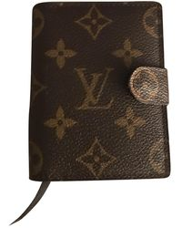 Louis Vuitton Leder Kleinlederwaren - Braun