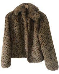 Balmain Faux Fur Jacket - Brown