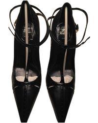 Roger Vivier Leather Heels - Black