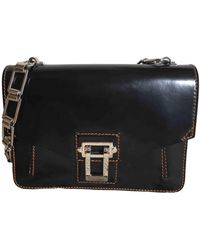 Proenza Schouler Hava Leather Handbag - Black