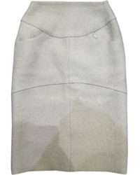 Chanel - 100% Authentic Cream Wool Pencil Skirt - Lyst