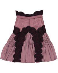 Zac Posen Purple Silk