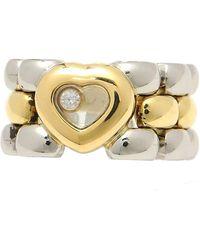 Chopard Anello in oro giallo argentato Happy Diamonds - Multicolore