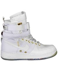 Nike Sf Air Force 1 Leather High Trainers - Multicolour