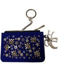 Dior Blue Cloth Purses Wallets & Cases