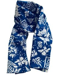 Dior Foulards en Coton Multicolore - Bleu