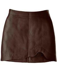 Ganni Fall Winter 2019 Mini Skirt - Brown