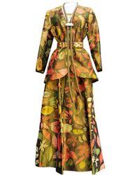 Hermès - Pre-owned Vintage Other Silk Dresses - Lyst