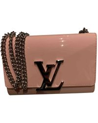 Louis Vuitton Louise Patent Leather Handbag - Pink
